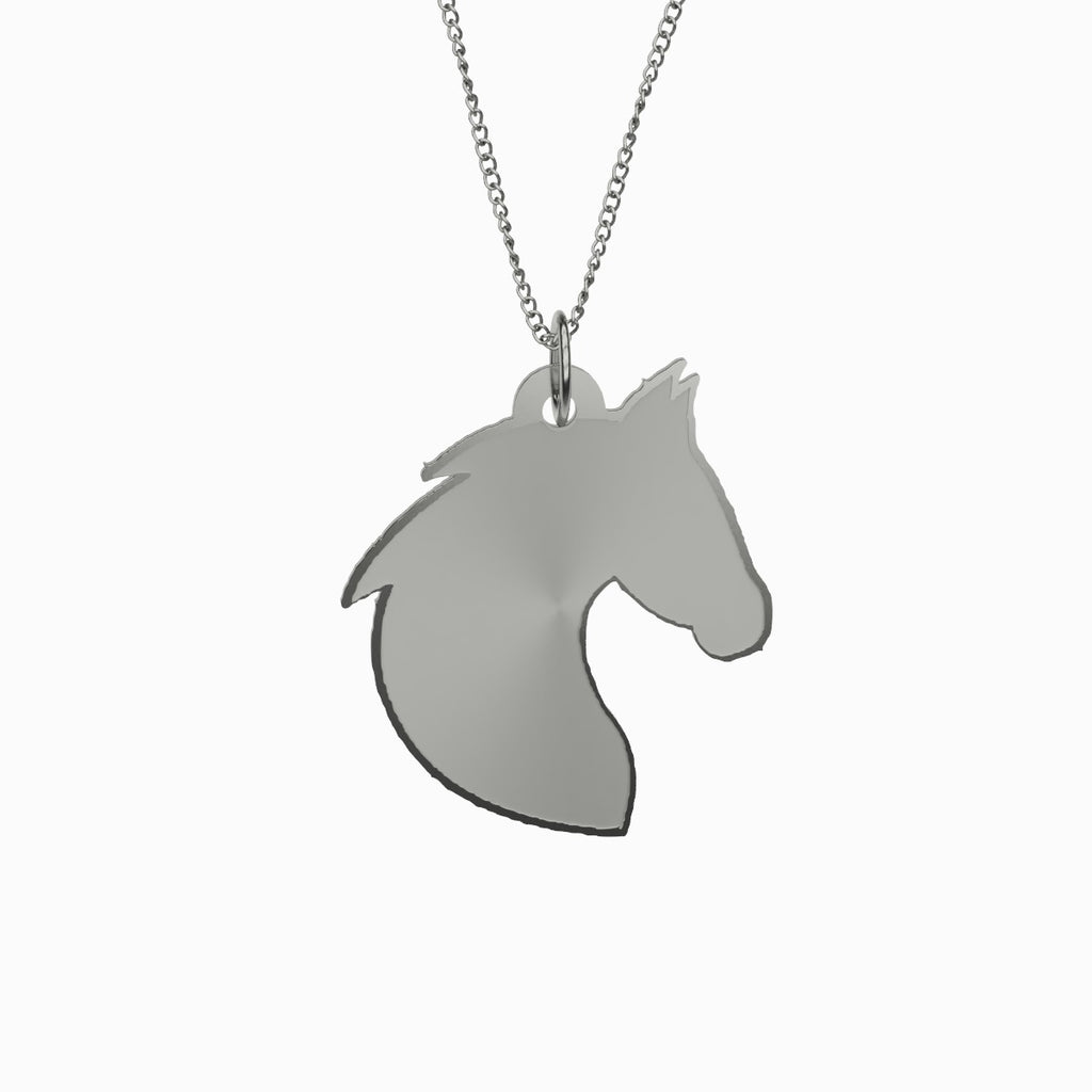 Horse Necklace 925 Sterling Silver
