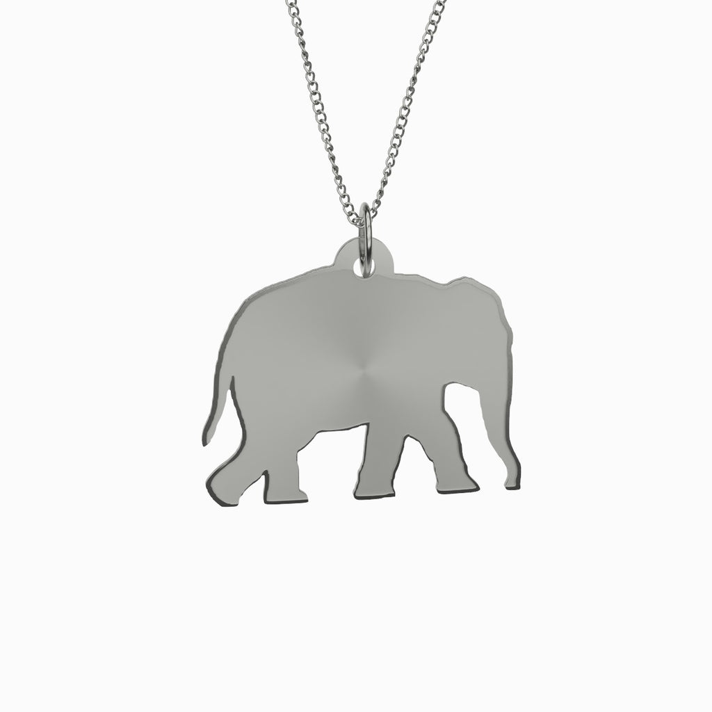 Elephant Necklace 925 Sterling Silver.