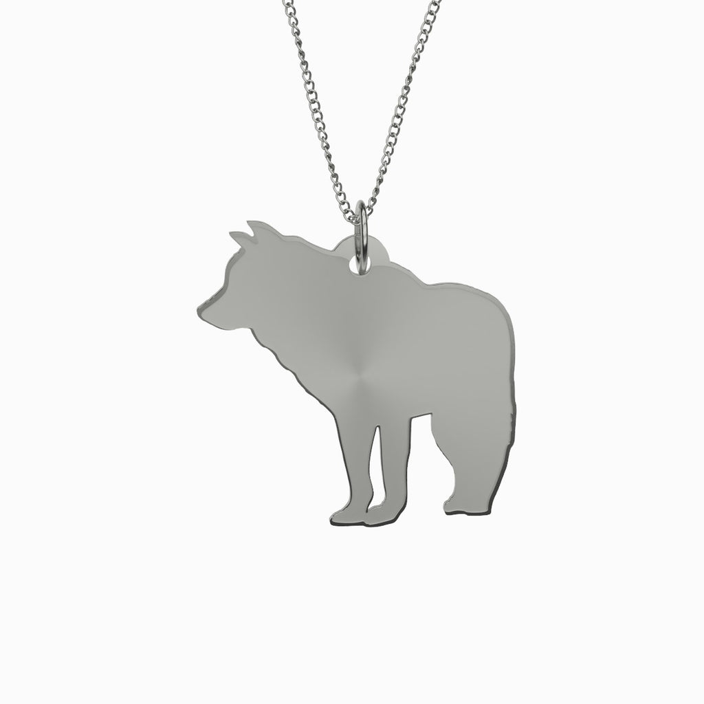 Wolf Necklace 925 Sterling Silver Pendant