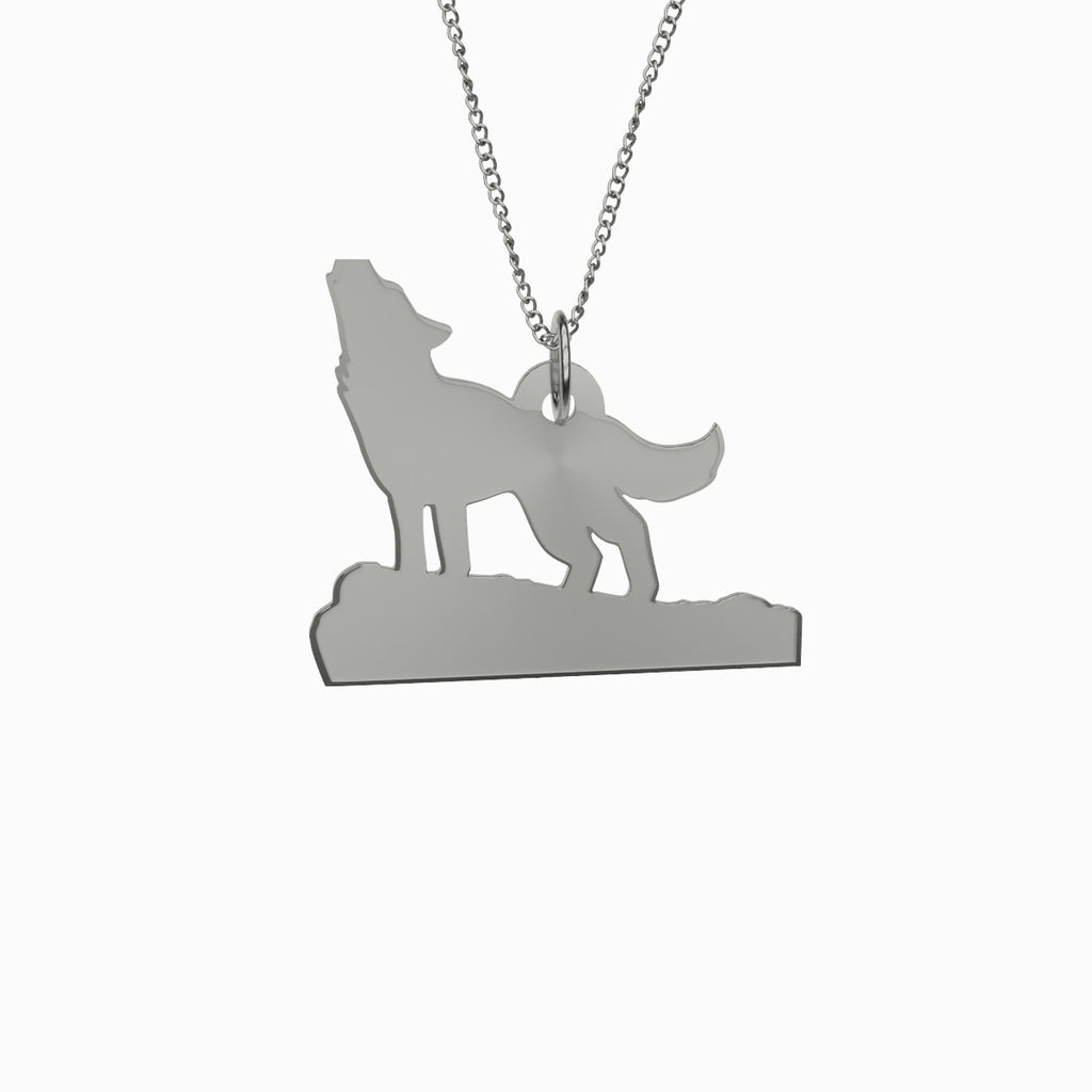 Howling Wolf Necklace 925 Sterling Silver Pendant