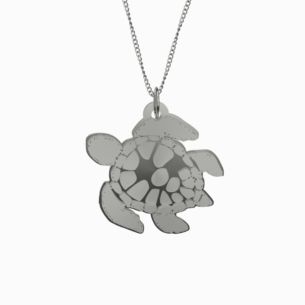 Sea Turtle Necklace 925 Sterling Silver Pendant