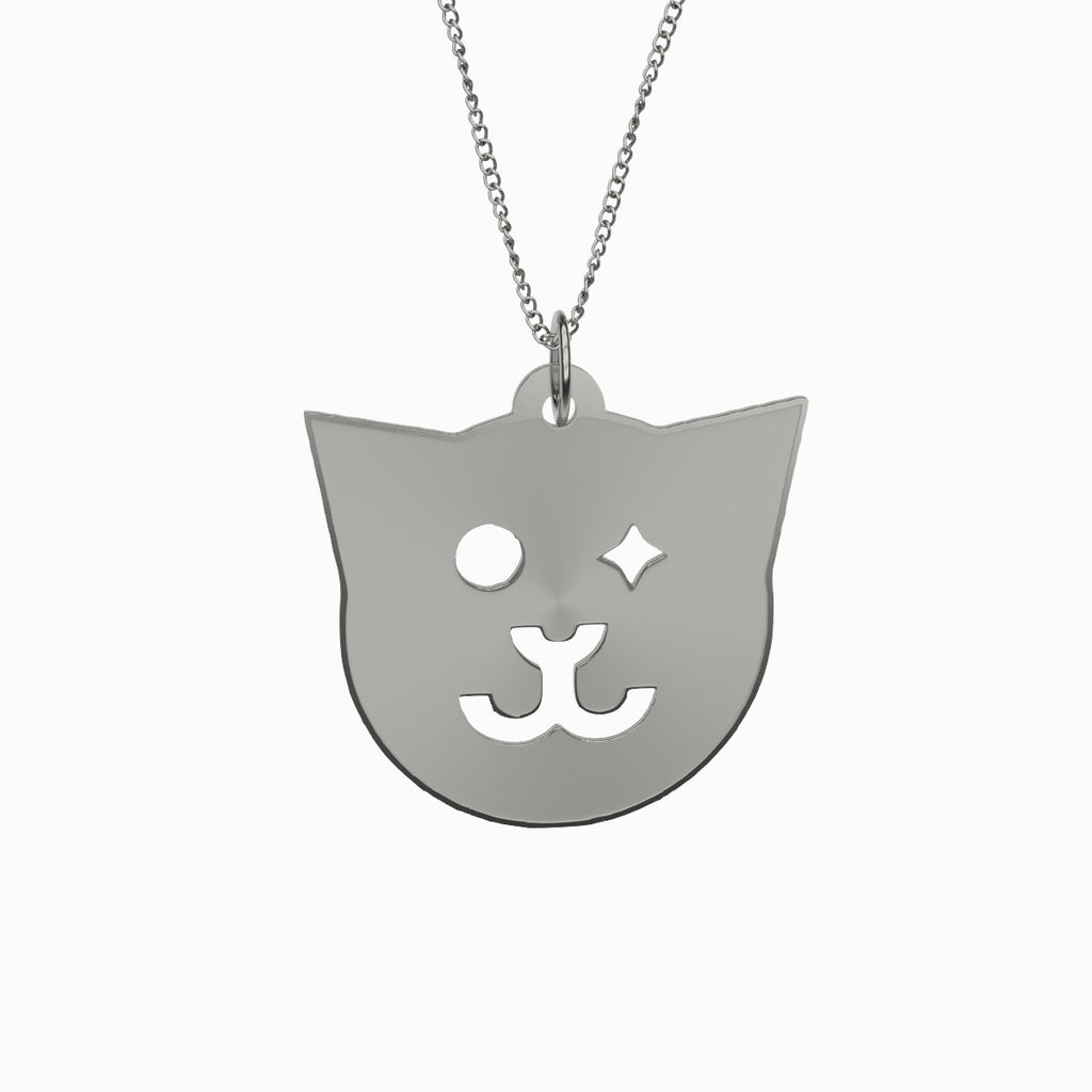 Cat Necklace 925 Sterling Silver Pendant