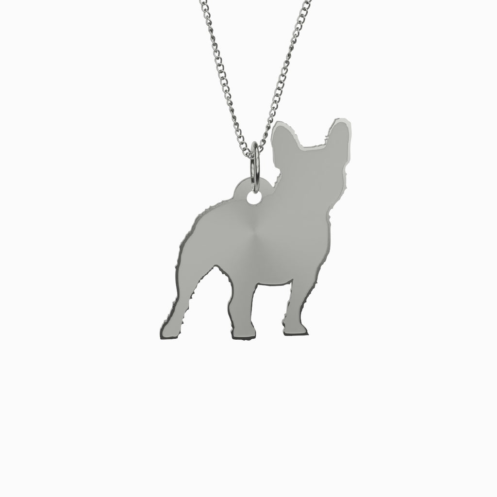 French Bulldog Dog Necklace 925 Sterling Silver Pendant