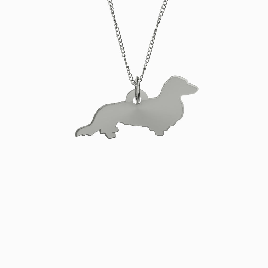 Dachshund Necklace 925 Sterling Silver Pendant