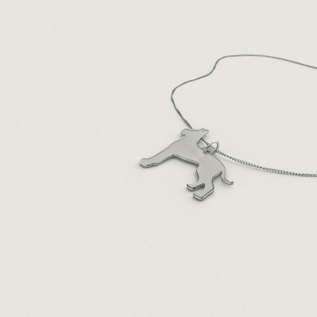 Great Dane Necklace 925 Sterling Silver