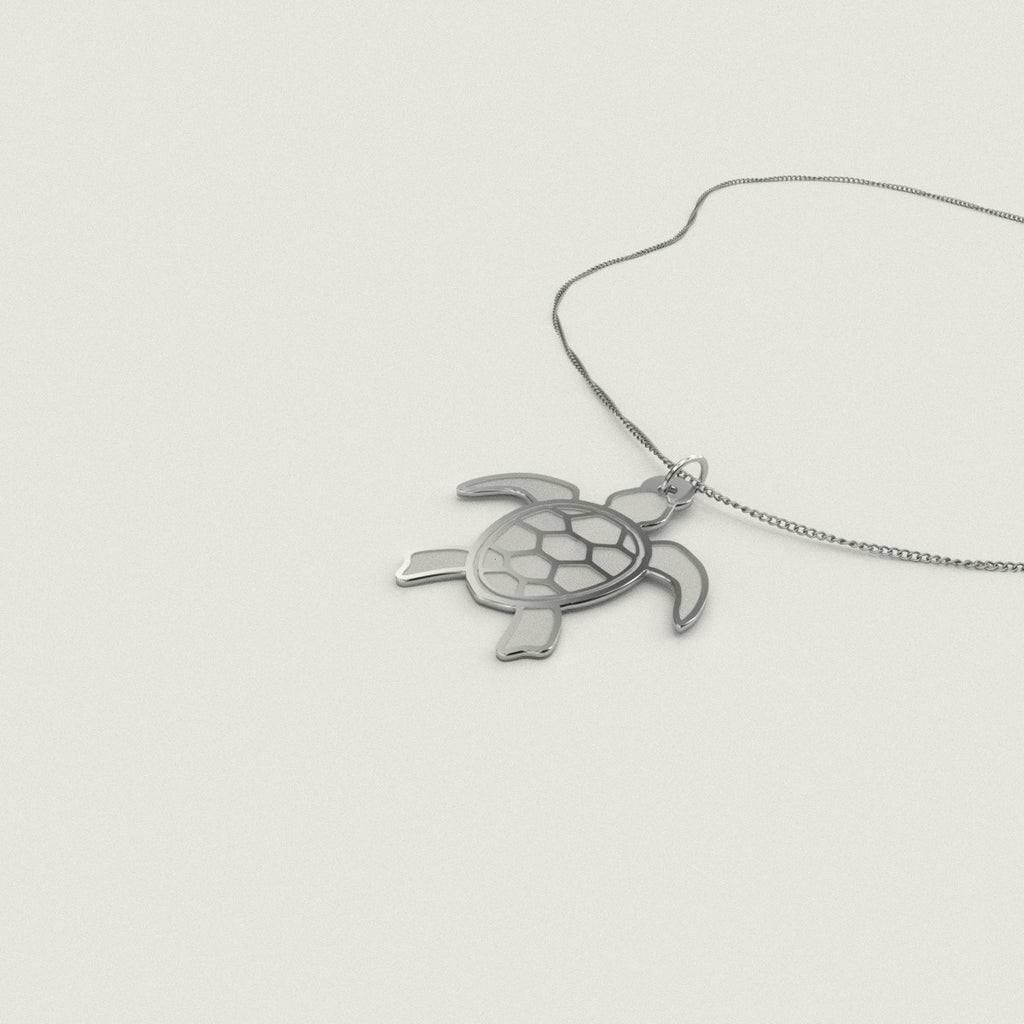 Sea Turtle Necklace Necklace 925 Sterling Silver Pendant.