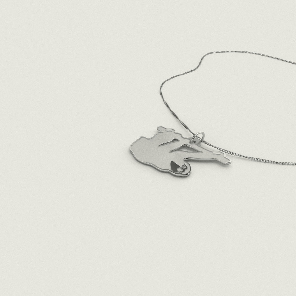 Sloth Necklace 925 Sterling Silver Pendant