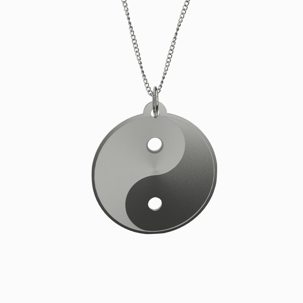 Yin en Yang Necklace Necklace 925 Sterling Silver Pendant