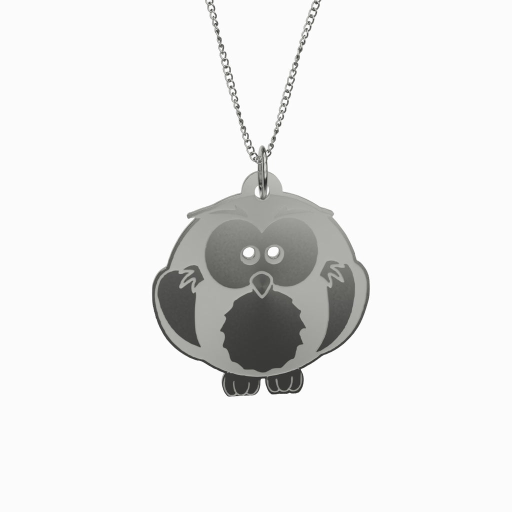 Owl Pendant Necklace Necklace 925 Sterling Silver