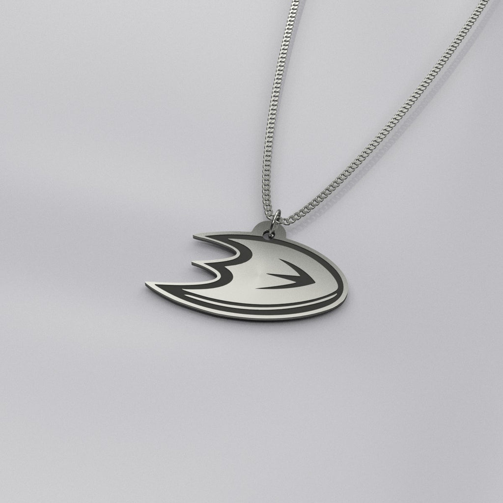 Anaheim Ducks Sterling Silver Pendant Necklace