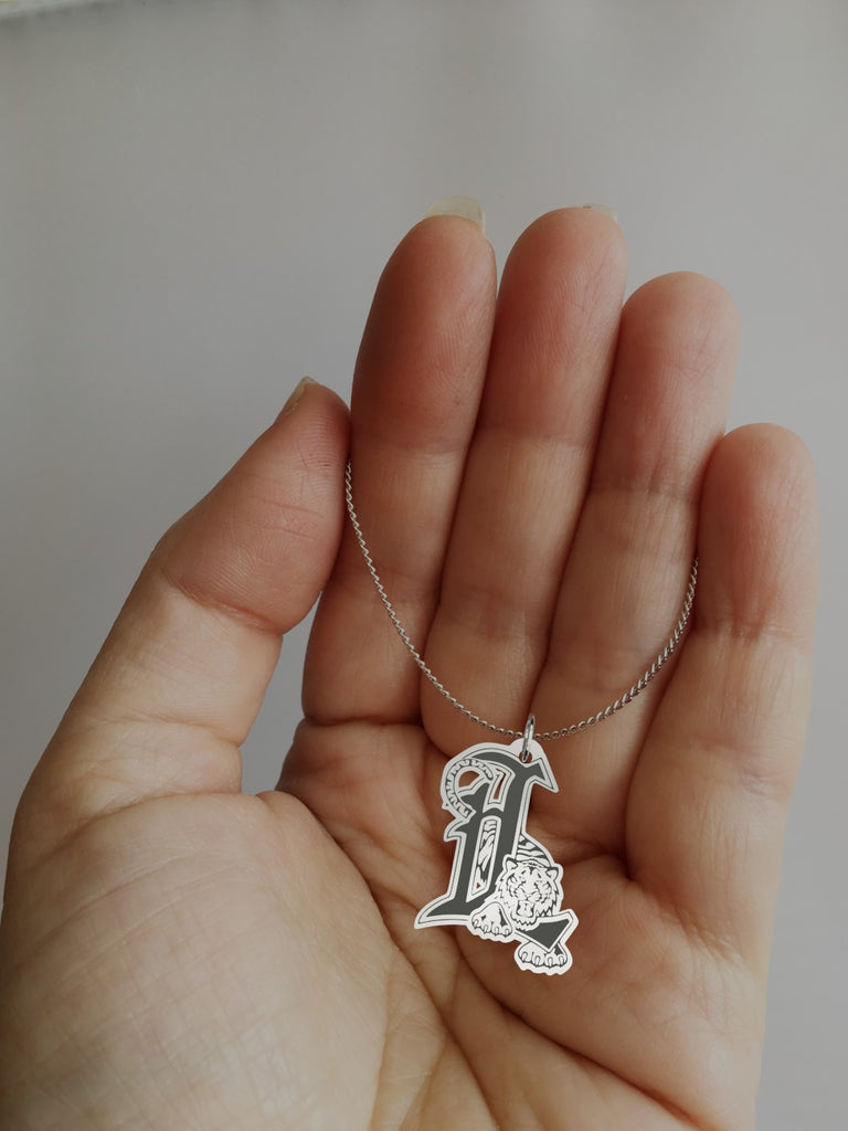 Detroit Tigers Sterling Silver Pendant Necklace