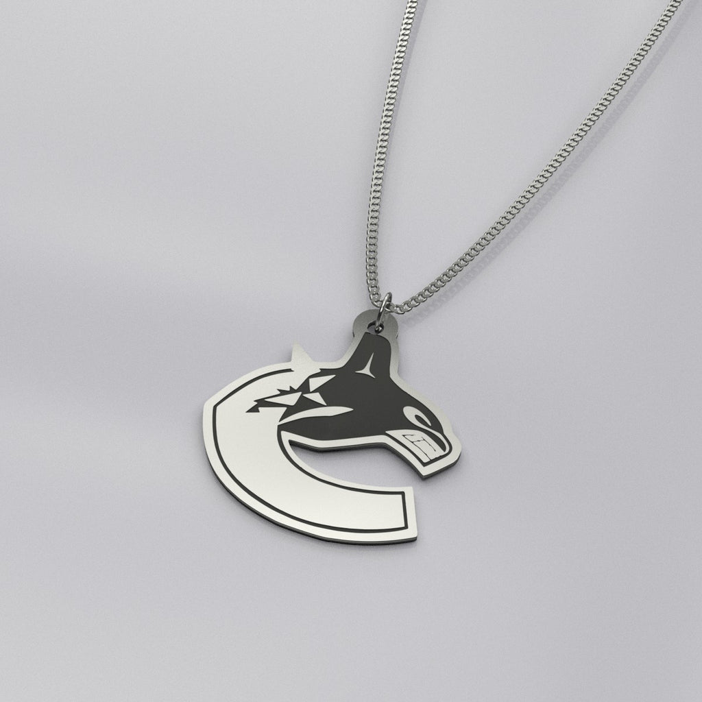 Vancouver Canucks Sterling Silver Pendant Necklace