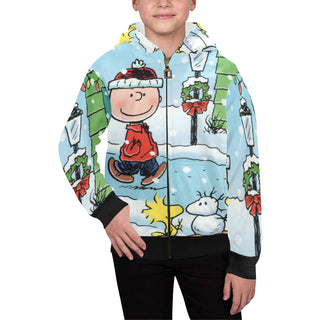 A Charlie Brown Christmas Kids' All Over Print Full Zip Hoodie