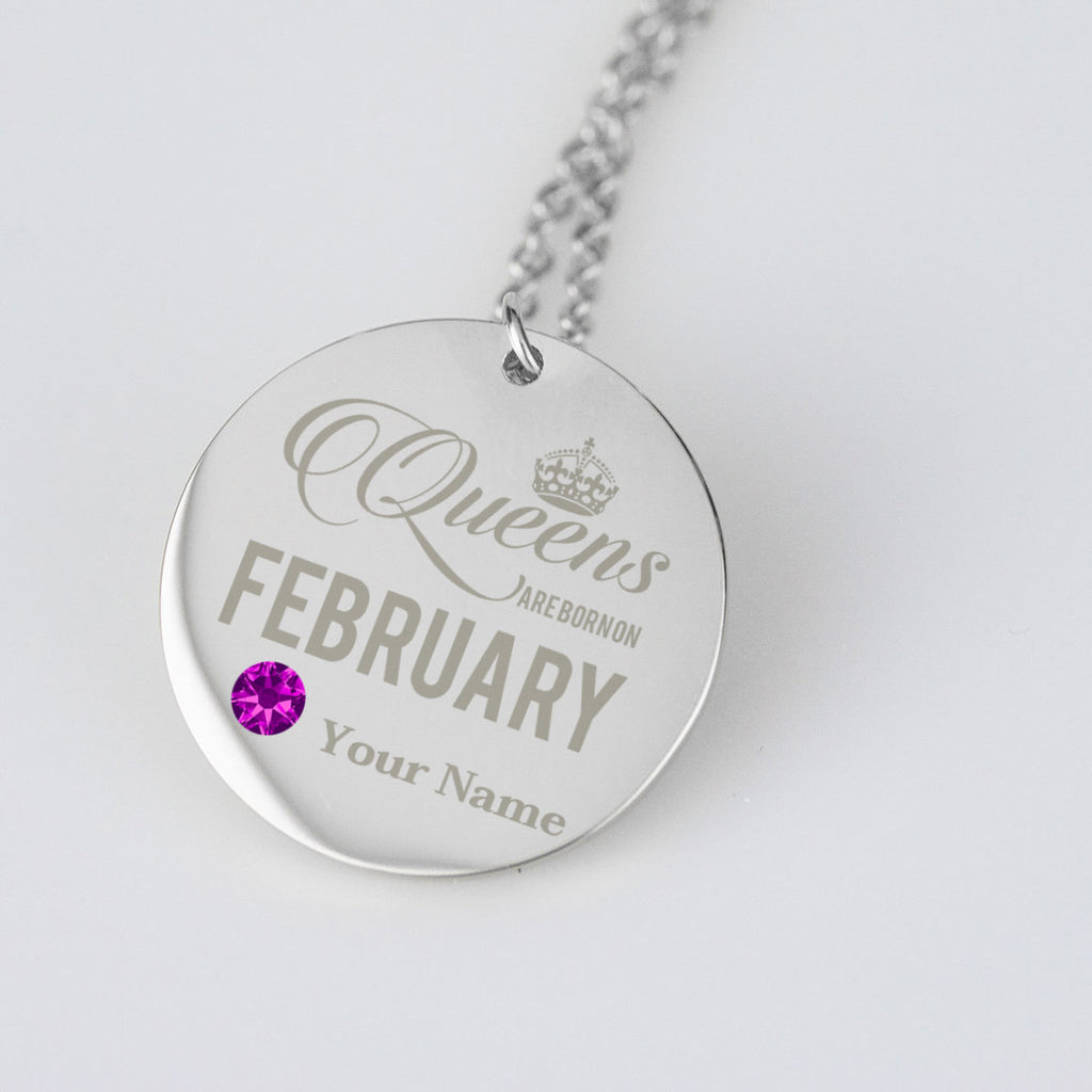 February Birthstone Dates Birthday Jewelry Personalised Birthday Gifts