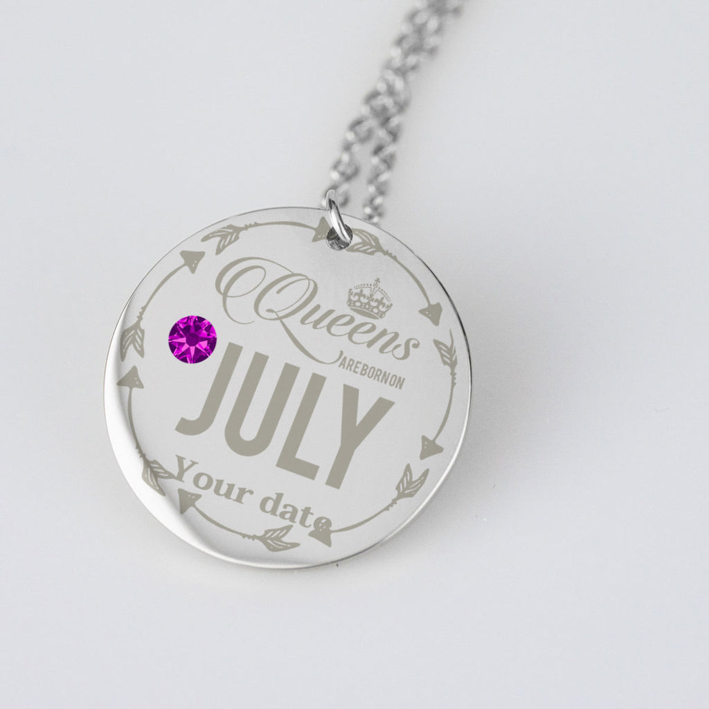July Birthstone Dates Birthday Jewelry Personalised Birthday Gifts