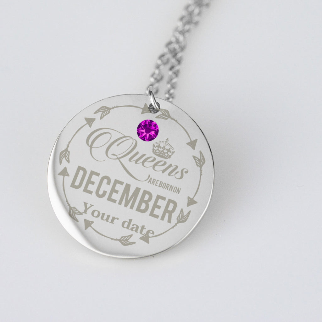 December Birthstone Dates Jewelry Personalised Birthday Gifts