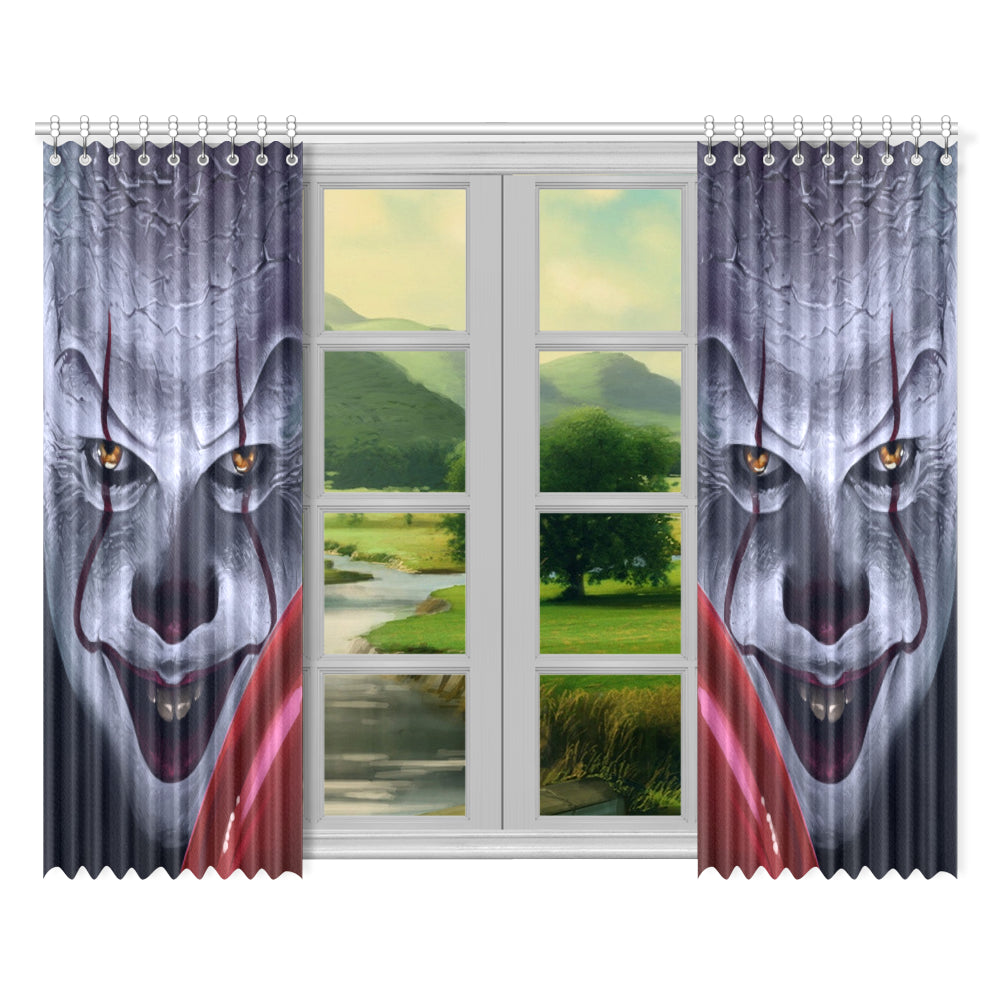 "It Chapter Two Pennywise Window Curtain 52""x 84"""