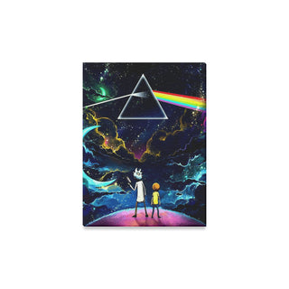 "Rick and Morty Dark Side of the Moon Canvas Print 12""x16"""