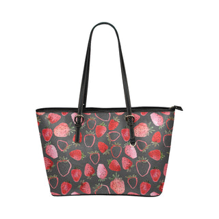 Strawberry Leather Tote Bag