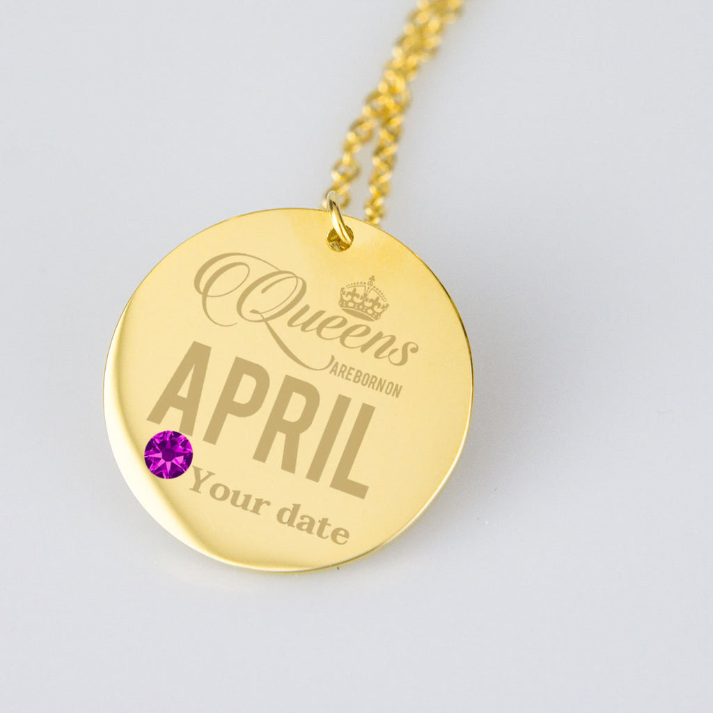 April Birthstone Dates Birthday Jewelry Personalised Birthday Gifts