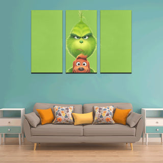 The Grinch Canvas Wall Art 3 Pieces Framed Wall Pictures