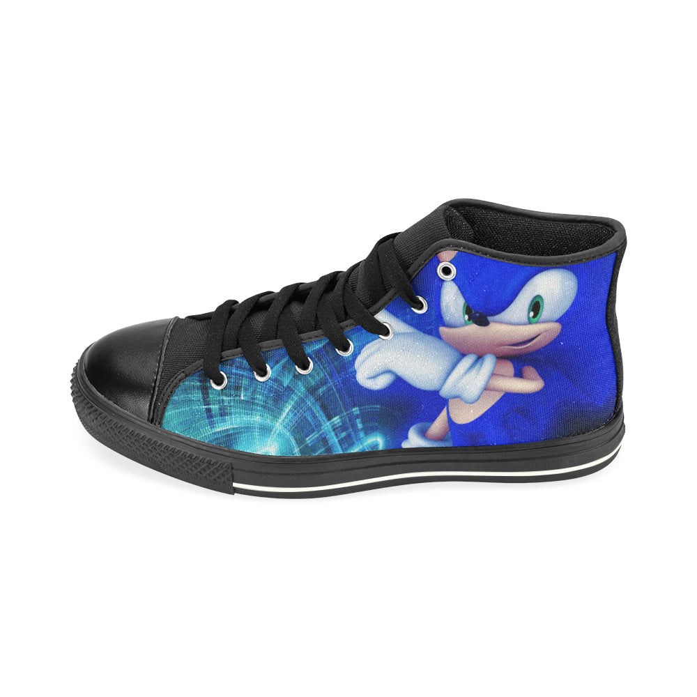 Sonic Shoes High Top Canvas Sneakers for Kid