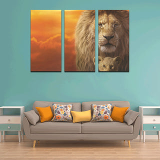 The Lion King Canvas Wall Art 3 Pieces Framed Wall Pictures