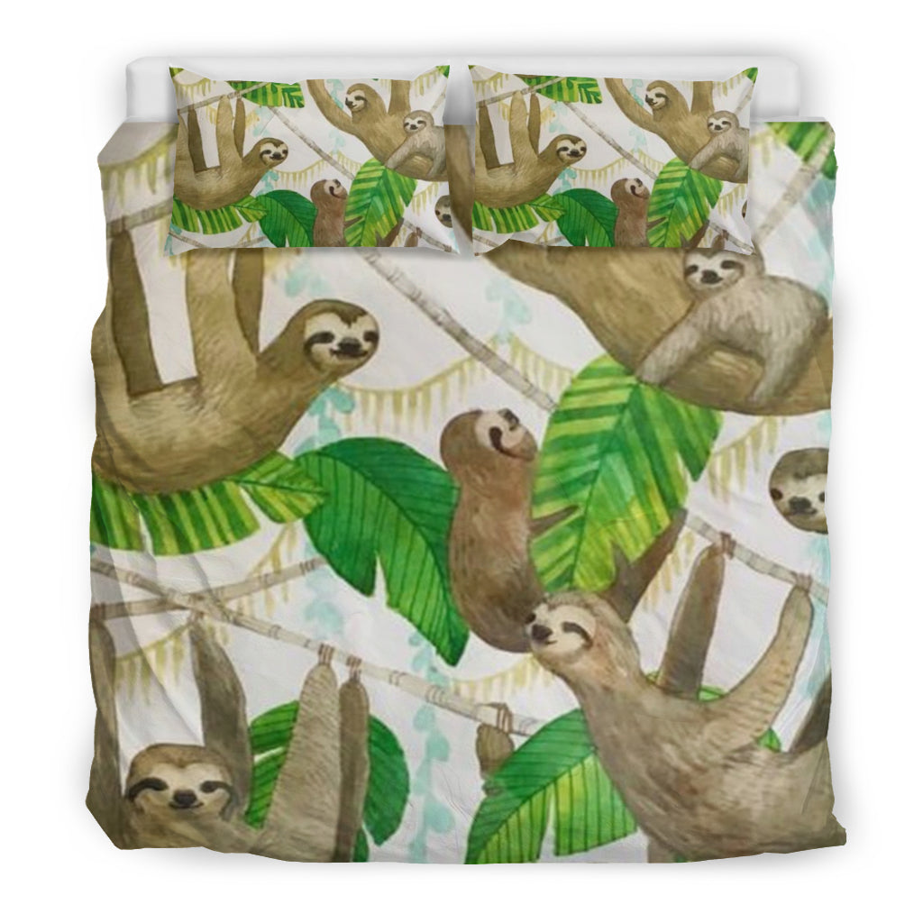 Sloth Bedding Set Sloth Duvet Cover