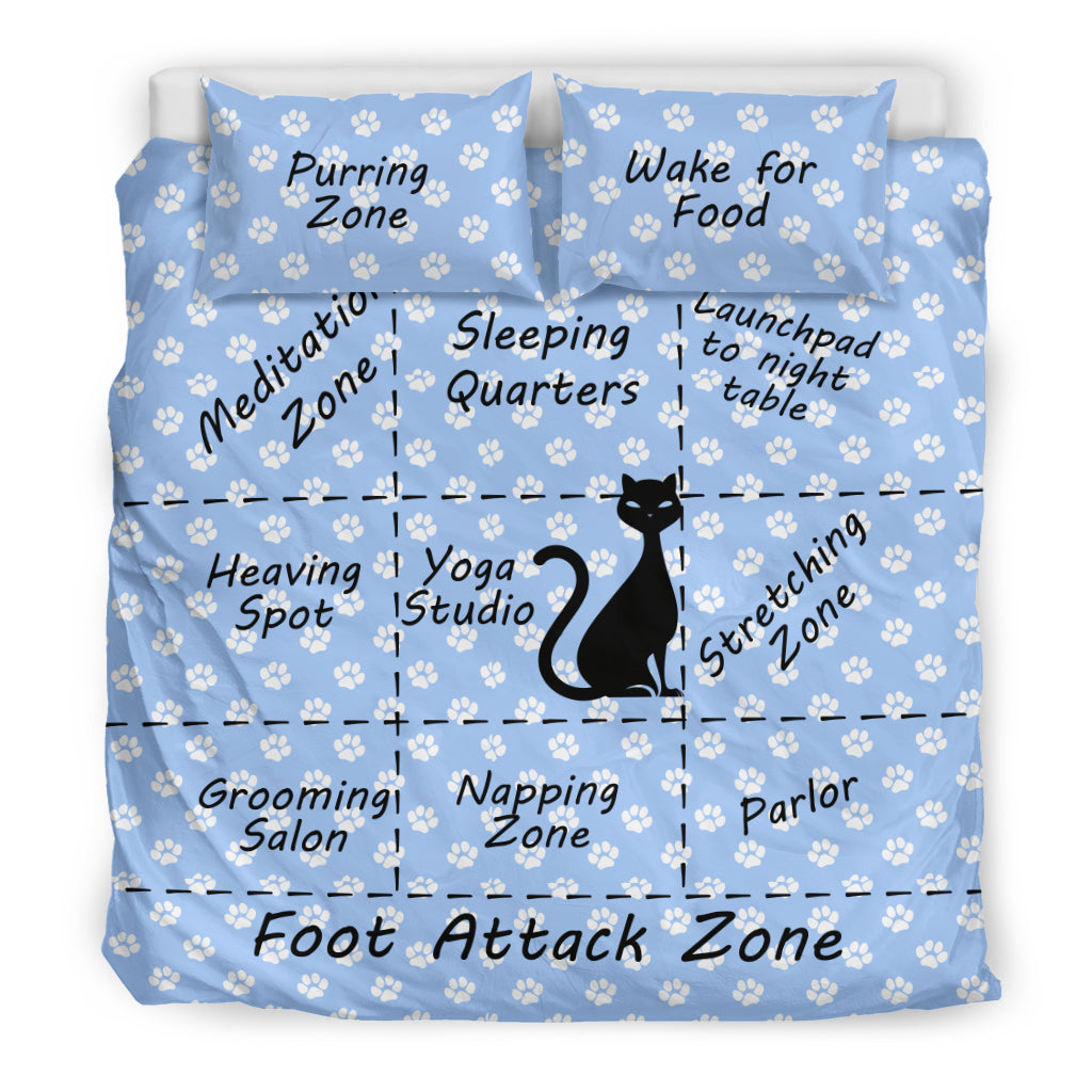Cat Map of the Bed Cat Duvet Cover Set