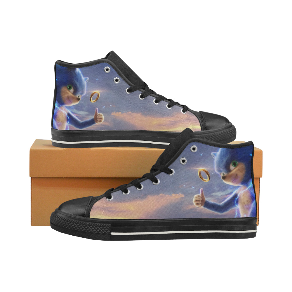 Sonic The Hedgehog Sneakers High Top Canvas Shoes for Kid