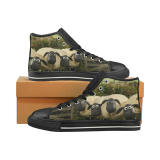 A Shaun the Sheep Sneakers High Top Canvas Shoes for Kid