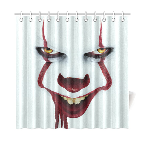 "It Chapter Two Pennywise Shower Curtain 72""x72"""