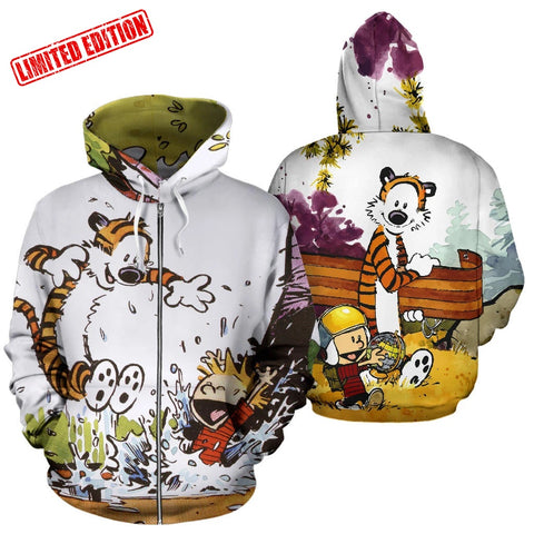Calvin and Hobbes Zip Up Hoodie Limited Edition