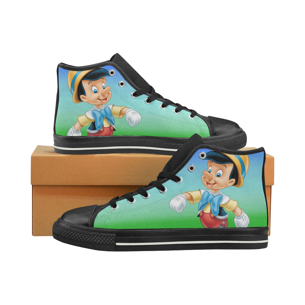 Pinocchio Sneakers High Top Canvas Shoes for Kid