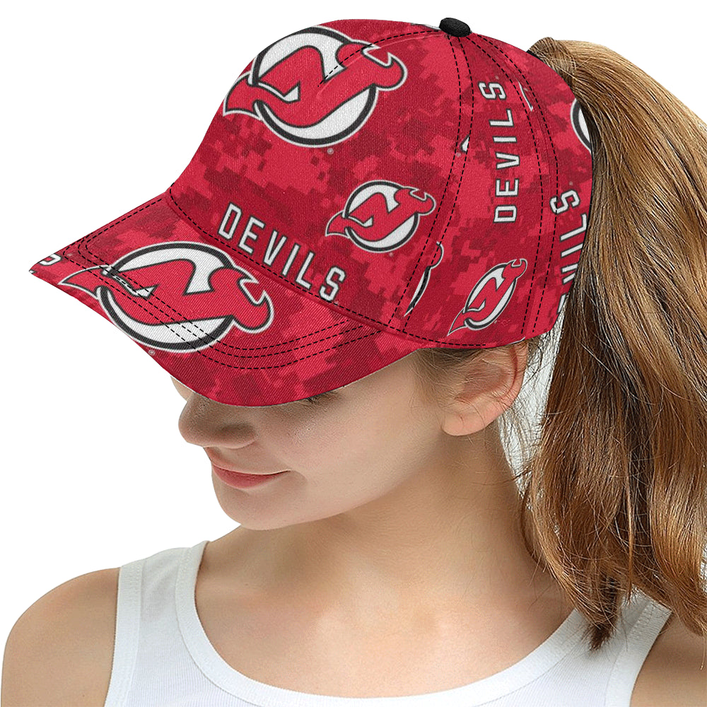 New Jersey Devils All Over Print Snapback Hat