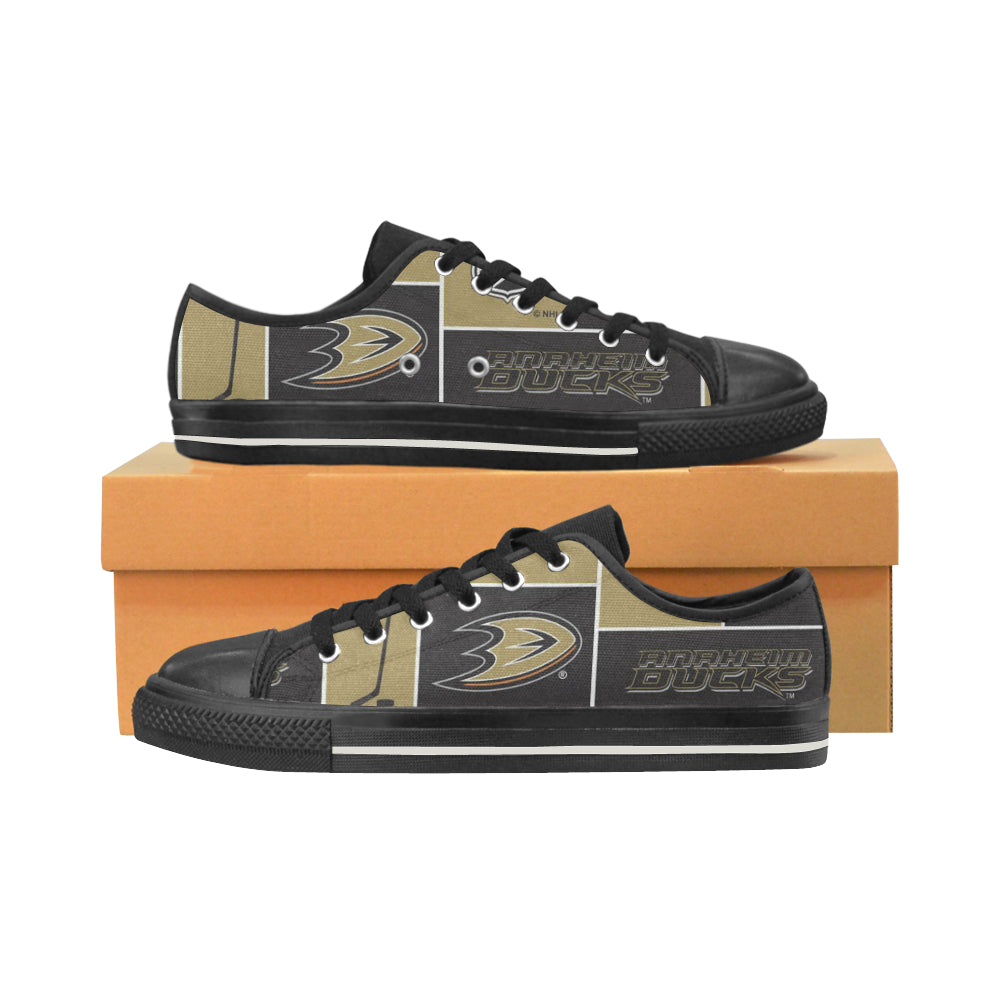 Anaheim Ducks Low Top Canvas Shoes for Kid
