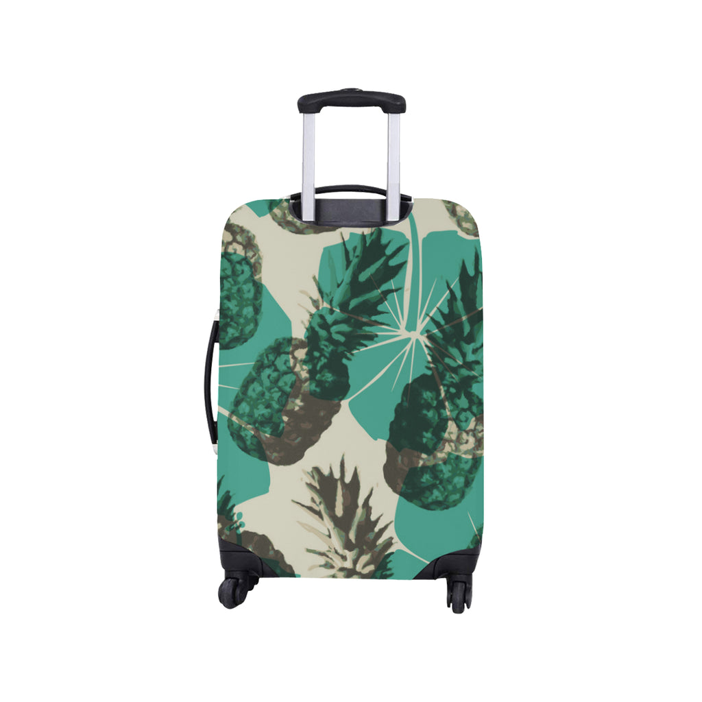 Food fruits pineapples green Luggage Cover