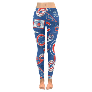 Chicago Cubs Low Rise Leggings Plus Size