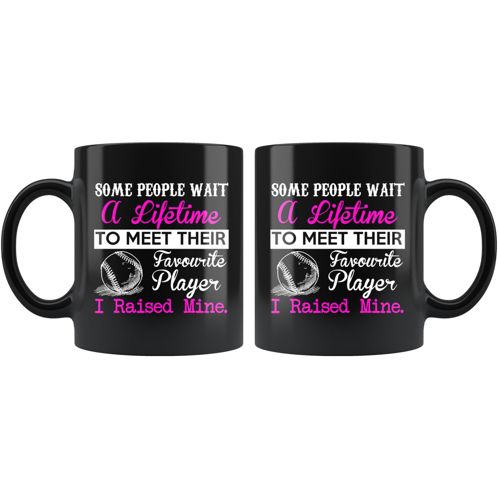 My Favorite Baseball Black Ceramic Coffee Mug Quotes Cup Sayings