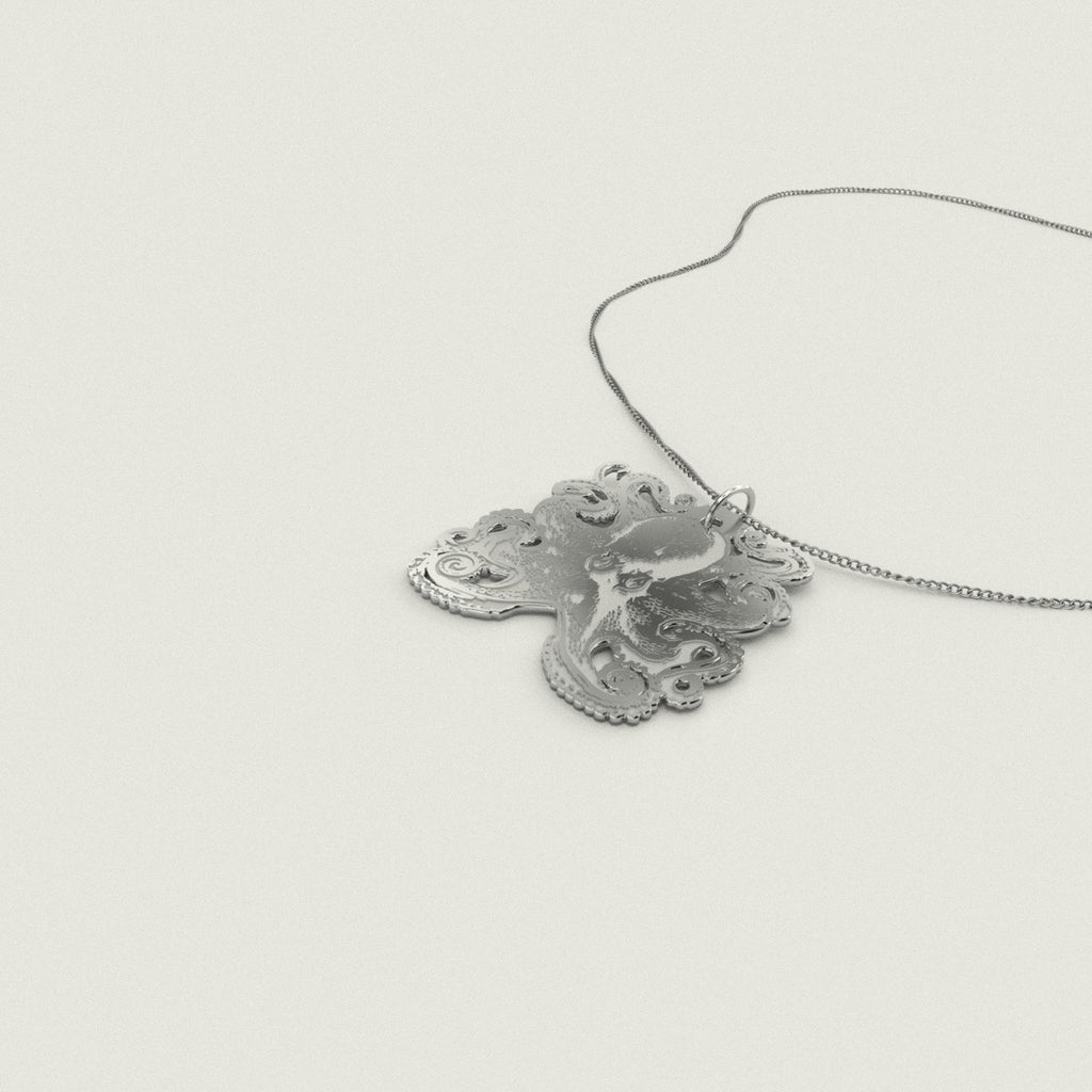 Octopus 925 Sterling Silver Pendant