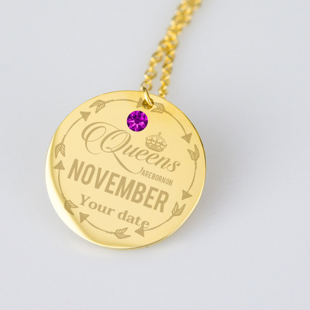 November Birthstone Dates Jewelry Personalised Birthday Gifts
