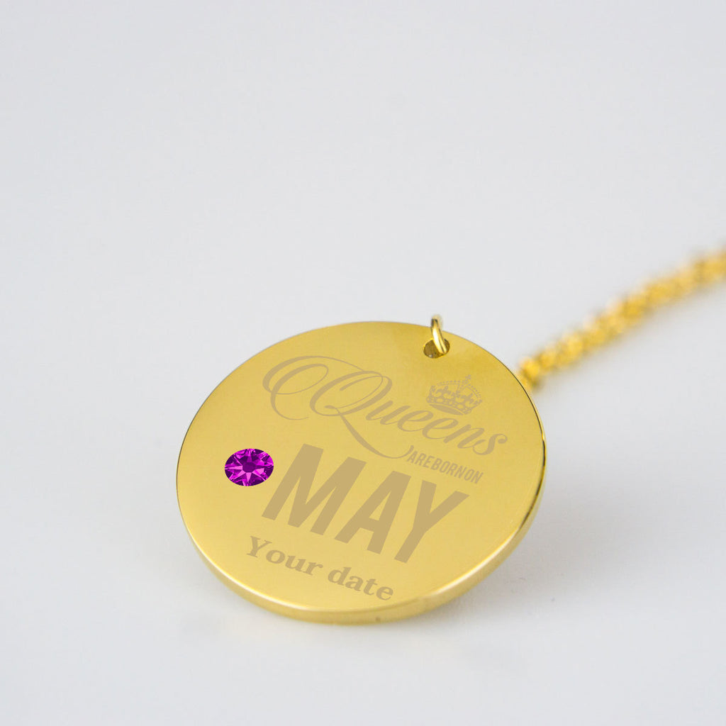 May Birthstone Dates Birthday Jewelry Personalised Birthday Gifts
