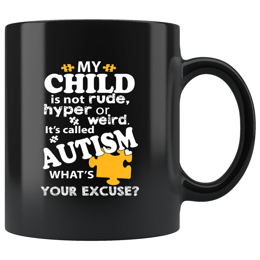Autism Awareness Black Ceramic Coffee Mug Quotes Cup Sayings