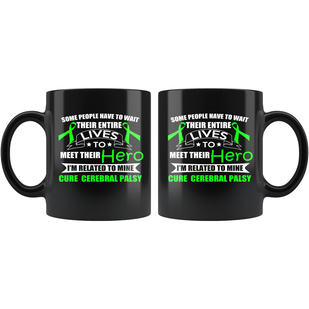Palsy Awareness Black Ceramic Coffee Mug Quotes Cup Sayings