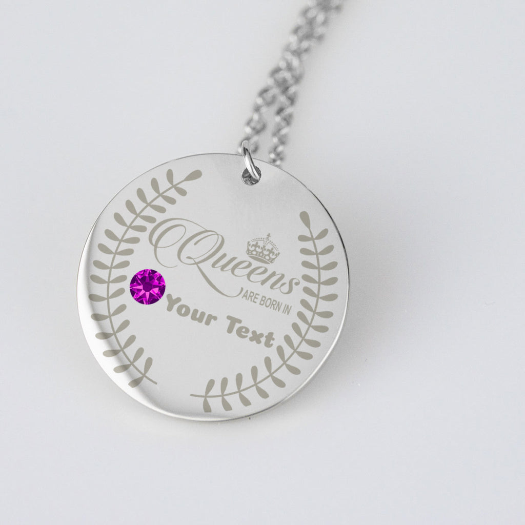 Queens are Born in Birthstone Dates Jewelry Personalised Birthday Gift