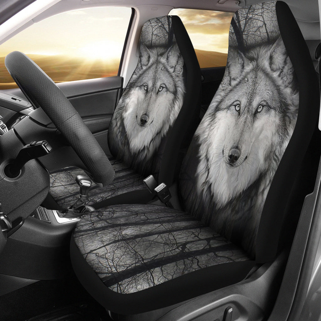 Wolf Car Seat Covers Set of 2