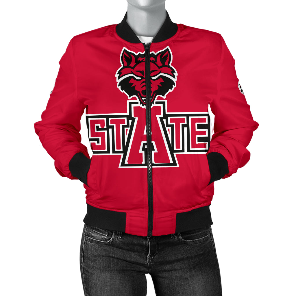 Arkansas State Red Wolves Bomber Jacket for Women