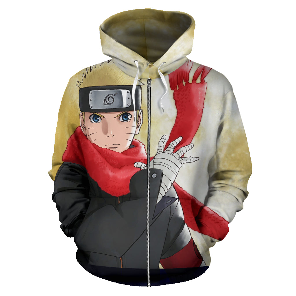 Uzumaki Hoodie Naruto Hoodie  All Over Zip Up