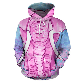 Elephant Pink All Over Hoodie