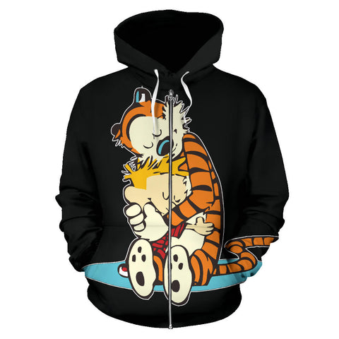 Calvin and Hobbes Zip Up Hoodie